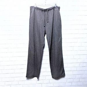 J. Crew Gray Cotton Pajama Lounge Pants L